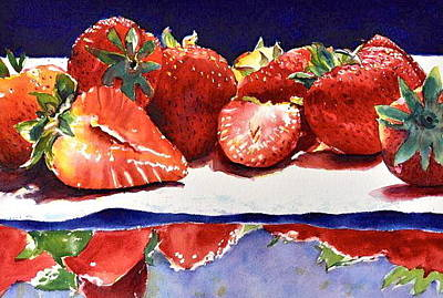 Painting - Strawberries            by Kathy Flood