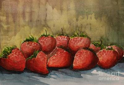 Painting - Strawberries by Kostas Koutsoukanidis