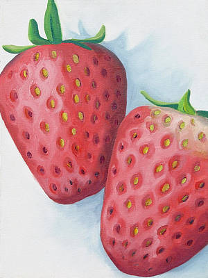 Painting - Strawberries by Laura Dozor