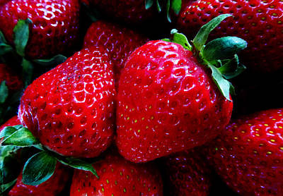 Photograph - Strawberries by Laurie Tsemak