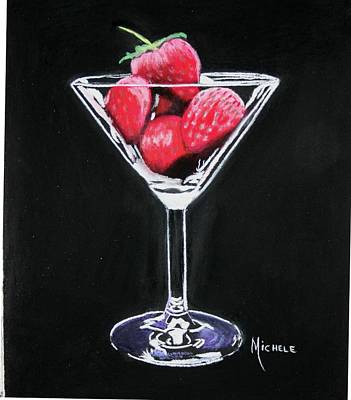 Pastel - Strawberries by Michele Turney