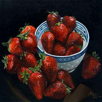 Painting - Strawberries by Rick Liebenow