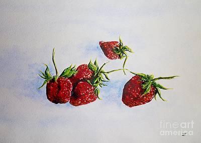 Painting - Strawberries  by Zaira Dzhaubaeva