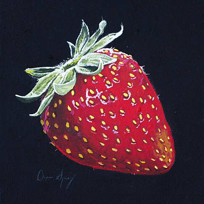 Strawberry Art Print by Aaron Spong