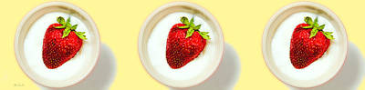 Surrealism Royalty Free Images - Strawberry and Cream Royalty-Free Image by Bob Orsillo