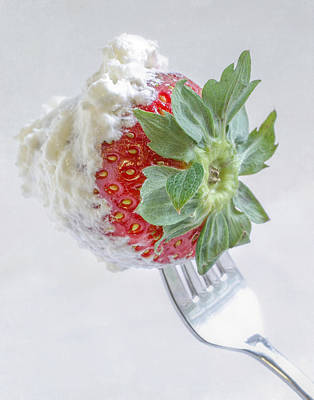 Photograph - Strawberry And Whipped Cream by David and Carol Kelly