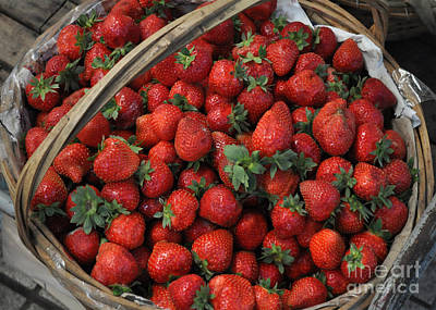 Strawberry Basket Art Print