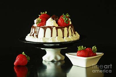Strawberry Chocolate Dream Cake Art Print