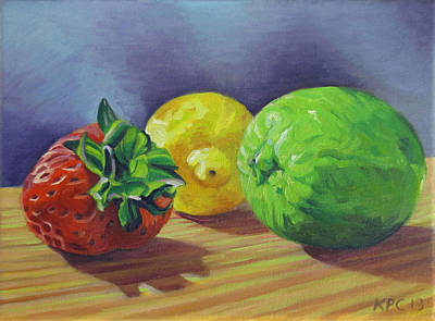 Oil Painting - Strawberry Citrus by Kenneth Cobb