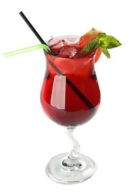 Martini Royalty-Free and Rights-Managed Images - Strawberry cocktail by Nikita Buida