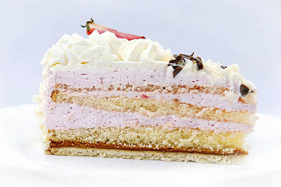 Photograph - Strawberry Cream Cake by Design Windmill