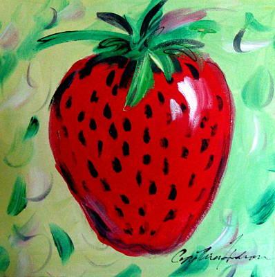 Strawberry Art Print by Cynthia Hudson