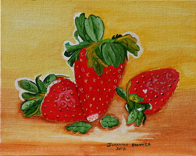 Strawberry Delight Art Print by Johanna Bruwer