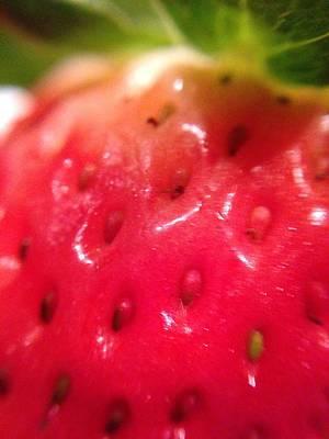 Strawberry Delight Art Print by Marian Palucci-Lonzetta