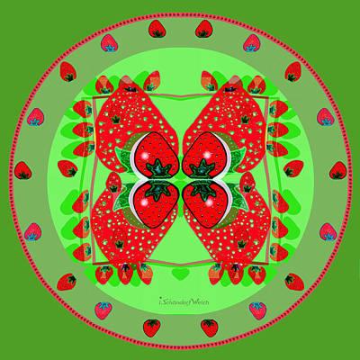 Painting - 1136 - Strawberry Dessert by Irmgard Schoendorf Welch