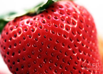 Photograph - Strawberry Detail by John Rizzuto