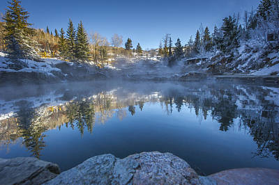 Colorado Photograph - Strawberry Hot Springs by Chelsea Stockton