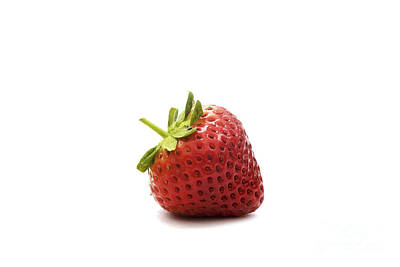 Strawberry II Art Print by Natalie Kinnear