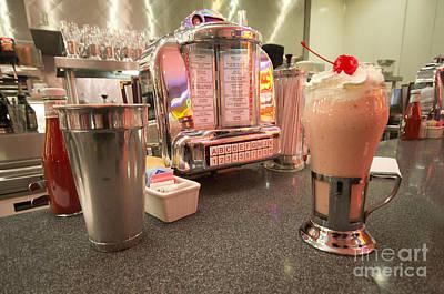 Jukebox Photograph - Strawberry Malt Shake  by Rob Hawkins