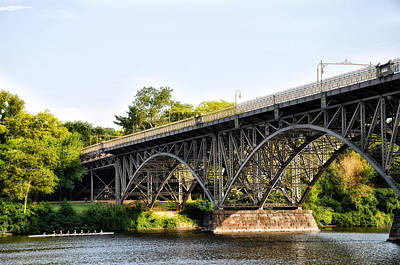 Boathouse Row Digital Art - Strawberry Mansion Bridge And The Schuylkill River by Bill Cannon