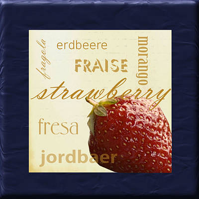 Translate Digital Art - Strawberry by Marti Snider
