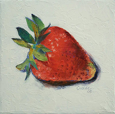 Impasto Oil Painting - Strawberry by Michael Creese
