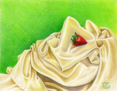 Strawberry Drawing - Strawberry Passion by Nancy Cupp
