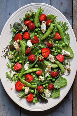 Strawberry Pea Salad Art Print