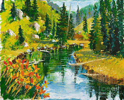 Painting - Strawberry Reservoir by Walt Brodis