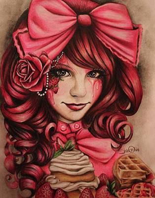 Strawberry Drawing - Strawberry by Sheena Pike