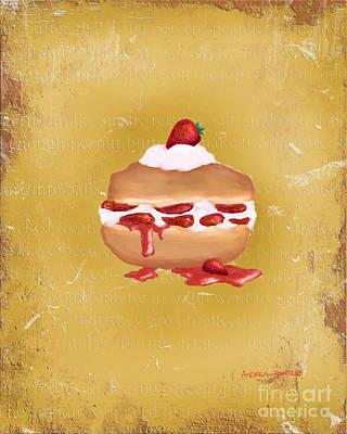 Strawberry Shortcake Painting Art Print by Andrea Pontillo