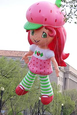 Strawberry Shortcake Parade Float Art Print by Laurie Tracy