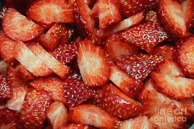 Photograph - Strawberry Slices by Andee Design