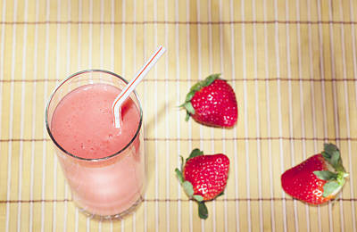 Strawberry Smoothie Photograph - Strawberry Smoothie by Alexey Stiop