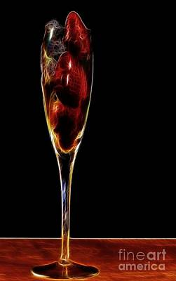 Art Print featuring the photograph Strawberry Sparkler by Shirley Mangini