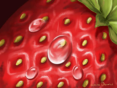 Strawberries Digital Art - Strawberry by Veronica Minozzi