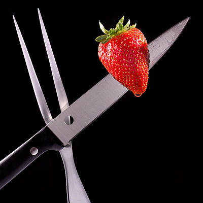 Strawberry With Knife And Fork  Original