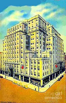Philadelphia Pa Painting - Strawbridge Department Store In Philadelphia Pa 1935 by Dwight Goss