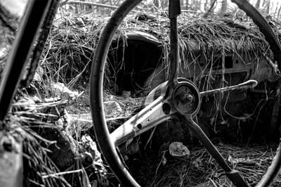 Old Photograph - Strawmobile In Black And White by Greg Mimbs