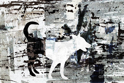 Citylife Digital Art - Stray Dog by Adrian Hillman