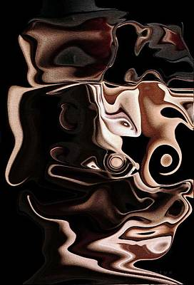 Piety Goan Artist Digital Art - Streached Facez by Piety Dsilva