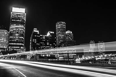 Photograph - Streaking Lights In Boston  by John McGraw