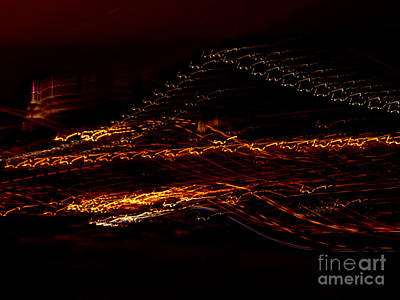 Streaks Across The Bridge Art Print