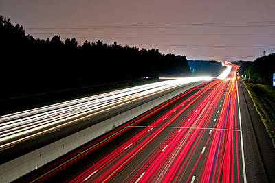 Photograph - Streaks Of Light by Joseph C Hinson Photography