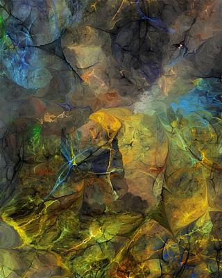 Stream Bed On A Sunny Day Art Print