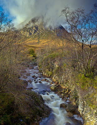 Stob Dearg Photograph - Stream Below Buachaille Etive Mor by Gary Eason