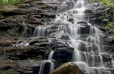 Photograph - Stream Cascading Over Rock Ledges by Jeannette Hunt