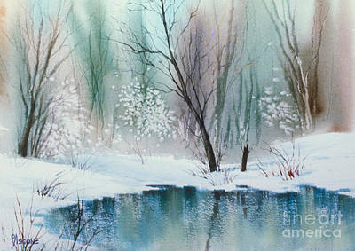Stream Cove In Winter Art Print