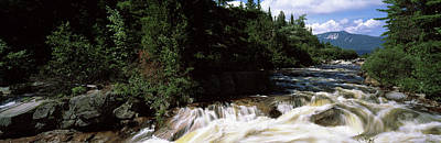 Maine Mountains Photograph - Stream Flowing Through A Forest, Little by Panoramic Images