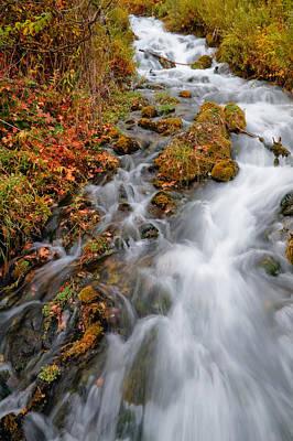 Stream In Autumn Art Print by Utah Images